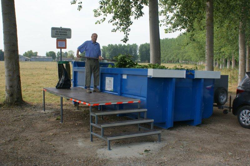 Estrade de bennes à déchets verts 2015